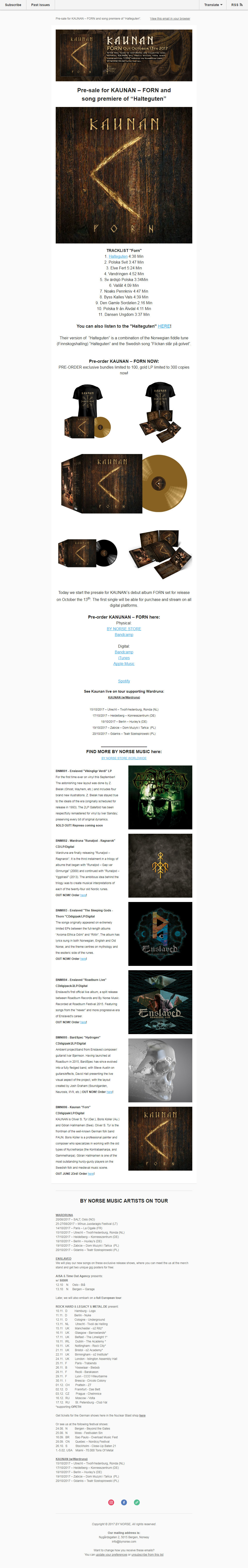 bynorse newsletter email marketing